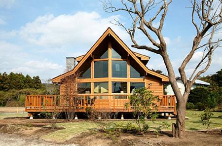 美しい里山と高級貸別荘/高級コテージ シアトルハウス