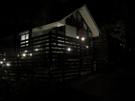 夜の外観の様子/ゲストイン大朝の杜